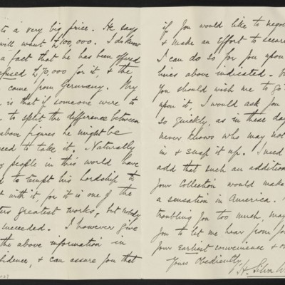 Letter from H. Silva White to H.C. Frick, 9 October 1912 [page 2 of 2]
