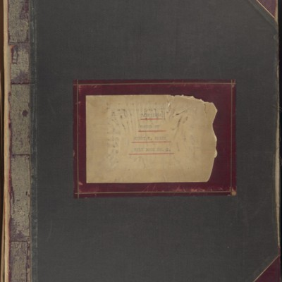 Bill Book No. 2, Front Cover