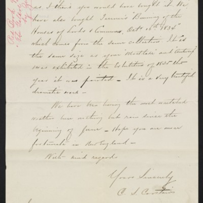 Letter from Charles S. Carstairs to Henry Clay Frick, 13 July 1909 [page 2 of 2]