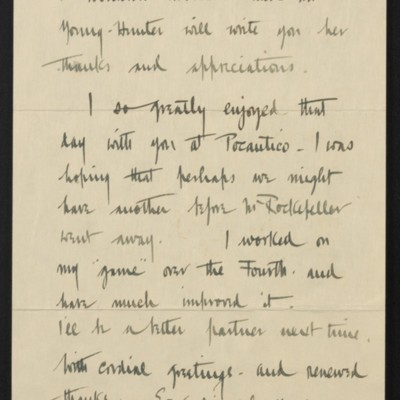 Letter from Welles Bosworth to [H.C.] Frick, 12 July 1919 [page 2 of 2]