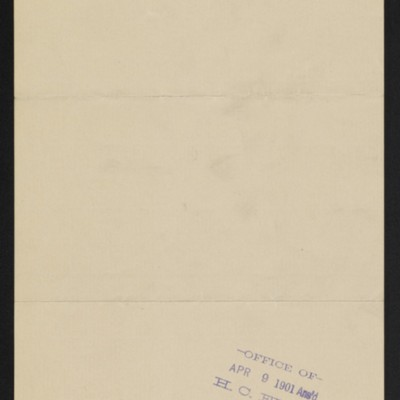Letter from Arthur Tooth & Sons to Henry Clay Frick, 8 April 1901 [back]