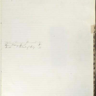 Bill Book No. 2, Index I