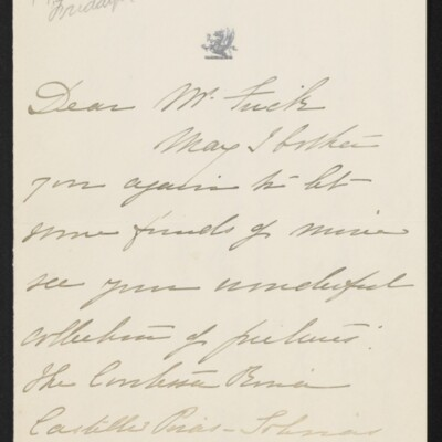 Letter from Florence Van Cortlandt Parsons to [H.C.] Frick, 4 April 1918 [page 1 of 3]