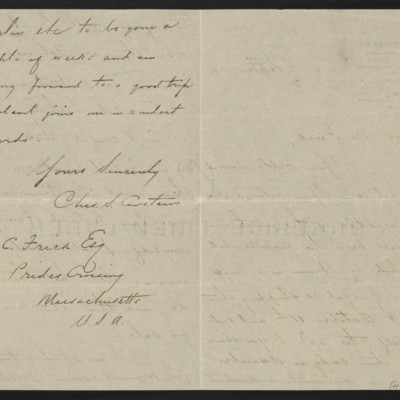Letter from Charles S. Carstairs to Henry Clay Frick, 2 September 1904 [page 2 of 2]