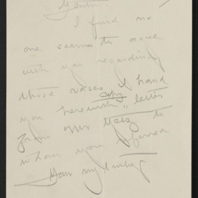 Draft of letterfrom [Henry Clay Frick] to Duveen Brothers, 1 July 1911