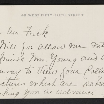 Letter from Gabrielle M. Dexter to [H.C.] Frick, 29 March 1916 [page 1 of 2]