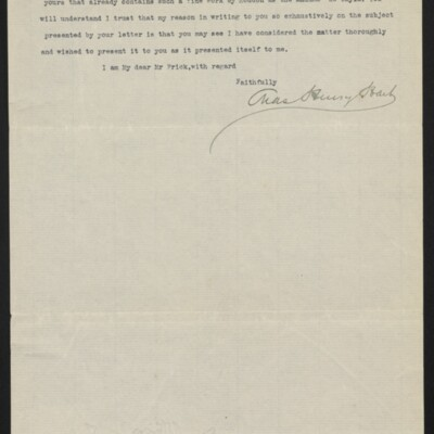 Letter from Charles Henry Hart to Henry C. Frick, 27 June 1916 [page 3 of 3]
