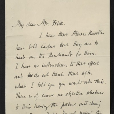 Letter from Roger E. Fry to [Henry Clay] Frick, 2 June 1910