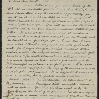 Letter from J.W. Beck to Henry Clay Frick, 10 December 1895
