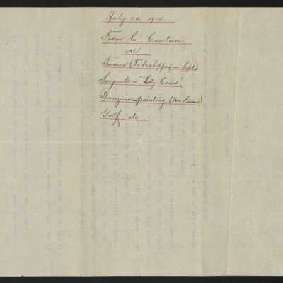 Letter from C.S. Carstairs to H.C. Frick, 24 July 1914 [page 3 of 3]