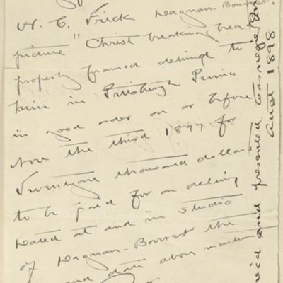 Memorandum signed by Edmond Simon, 13 August 1897