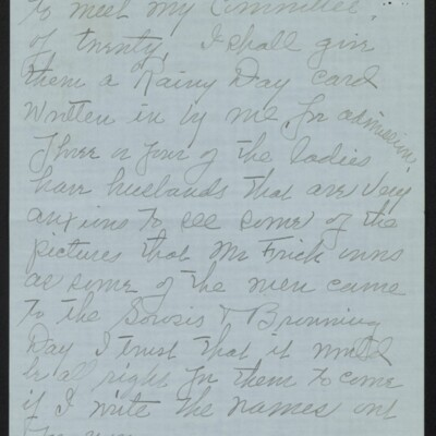 Letter from Edith M. Bridge to J. Howard Bridge, 3 March 1918 [page 2 of 4]