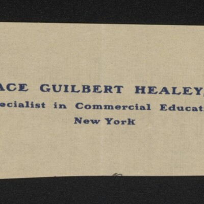 Fragment of stationery of Horace Guilbert Healey, circa March 1918