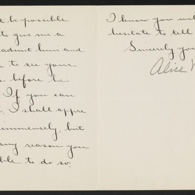 Letter from Alice V. Morris to [H.C.] Frick, 16 December 1918 [page 2 of 2]