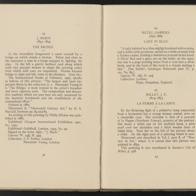 Catalogue of the Henry C. Frick Collection of Paintings, 1908 [pages 16-17]