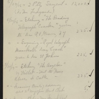 List of works donated in 1916 and 1917