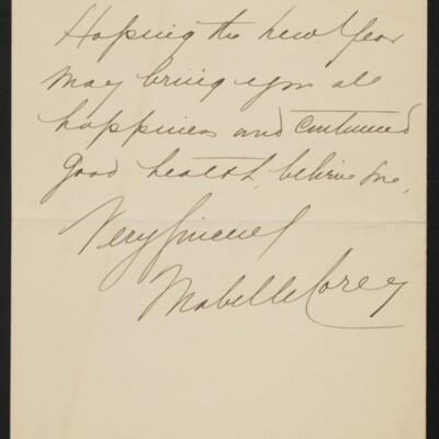 Letter from Mabelle Corey to [H.C.] Frick, circa January 1918 [page 2 of 2]