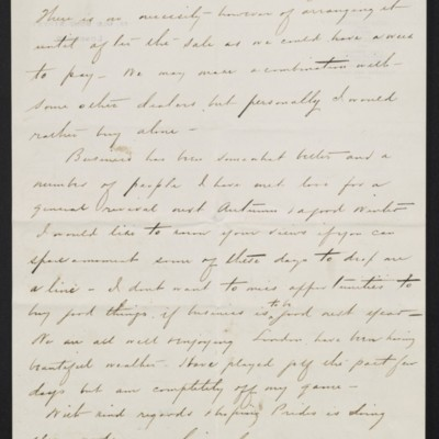 Letter from Charles S. Carstairs to [Henry Clay] Frick, 9 June 1908 [page 4 of 4]