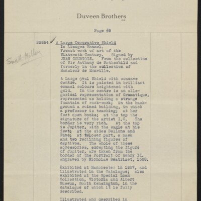 Invoice from Duveen Brothers to H.C. Frick, 20 February 1919 [page 5 of 7]