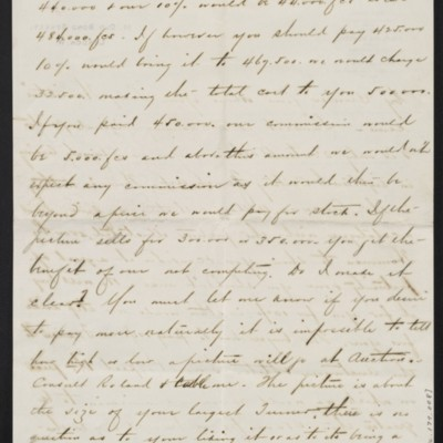 Letter from Charles Carstairs to [Henry Clay] Frick, 13 November 1908 [page 4 of 4]