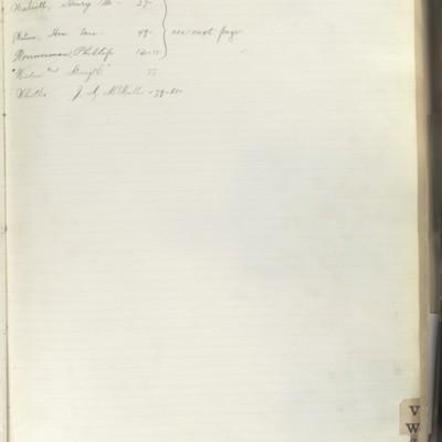 Bill Book No. 2, Index W