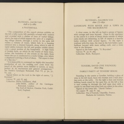 Catalogue of the Henry C. Frick Collection of Paintings, 1908 [pages 30-31]