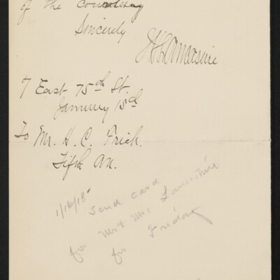 Letter from J.H. Lancashire to H.C. Frick, 15 January 1918 [page 2 of 2]