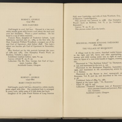 Catalogue of the Henry C. Frick Collection of Paintings, 1908 [pages 28-29]