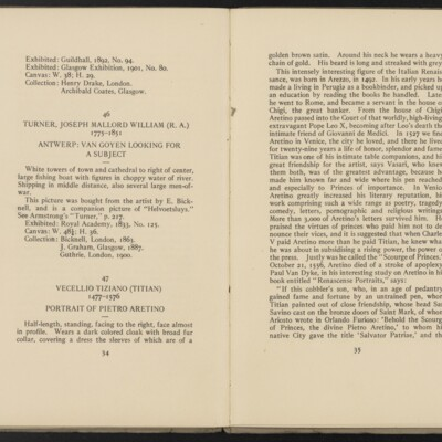 Catalogue of the Henry C. Frick Collection of Paintings, 1908 [pages 34-35]