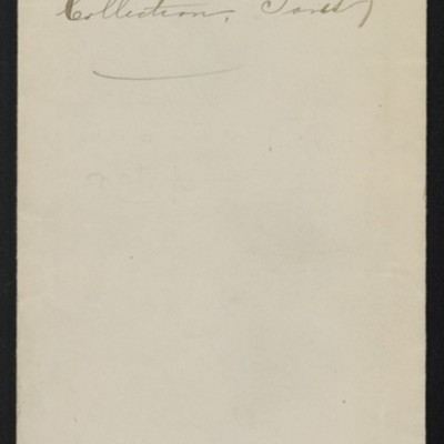 """Envelope for Rembrandt's """"Portrait of a Young Man Rising From His Chair,"""" circa 1912"""