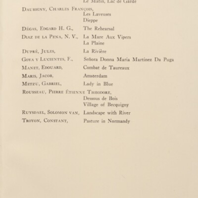 Paintings in the Collection of Henry Clay Frick, 1925 [Supplemental List, page 181]