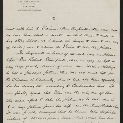 Letter from Charles Romer Williams to [Henry Clay] Frick, 27 February 1911 [3 of 5]