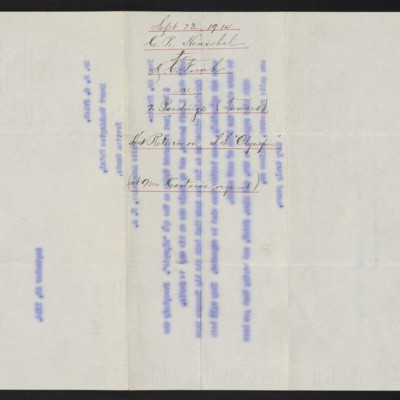 Letter from C.R. Henschel of M. Knoedler & Co. to H.C. Frick, 23 September 1914 [back]