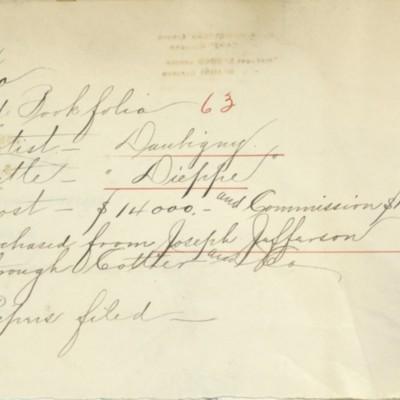 Memorandum prepared by Henry Clay Frick's office, circa 1904