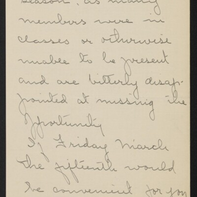 Letter from Josephine DuBois to [H.C.] Frick, circa 15 March 1918 [page 3 of 4]