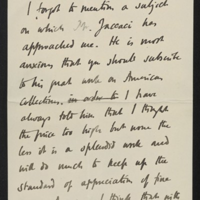Letter from Roger Fry to [H.C.] Frick, 10 July 1911 [page 7 of 8]