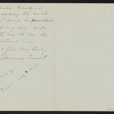 Letter from Devereux Emmet to [H.C.] Frick, 14 December 1917 [page 2 of 2]