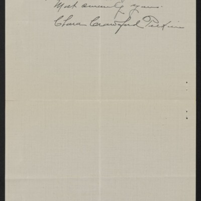 Letter from Clara Crawford Perkins to Henry C. Frick, 8 May 1918 [page 3 of 3]