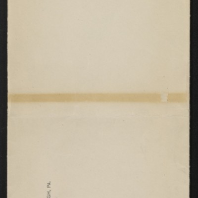 "Envelope for documents re Rembrandt's ""The Dutch Merchant,"" [1911-1912]"