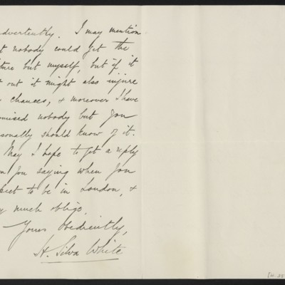 Letter from H. Silva White to H.C. Frick, 6 December 1912 [page 2 of 2]