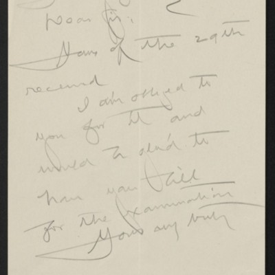 Draft of letterfrom [Henry Clay Frick] to John Getz, 1 July 1911