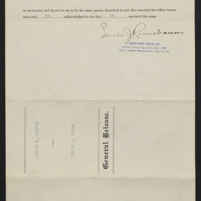 Settlement between Henry B. Culver and Henry Clay Frick, 18 June 1912 [back]
