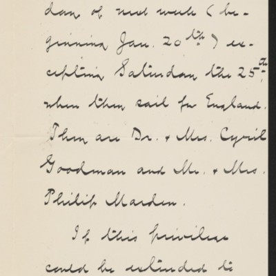Letter from Albert M. Lythgoe to Henry Clay Frick's secretary, 17 January 1919 [page 2 of 3]
