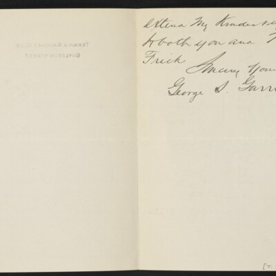 Letter from George S. Garritt to [H.C.] Frick, 22 February 1918 [page 3 of 3]