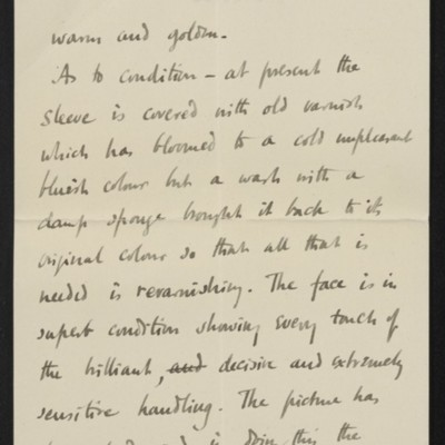 Letter from Roger Fry to Henry Clay Frick, 30 October 1911 [page 3 of 8]