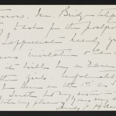 Letter from Emily V. Hammond to [H.C.] Frick, 21 February 1918 [page 2 of 2]