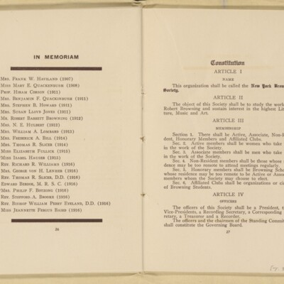 Directory of the New York Browning Society, Tenth Season, 1916-1917 [page 15 of 23]