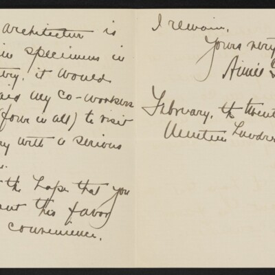 Letter from Aimee Gifford Downs to Henry C. Frick, 27 February 1918 [page 2 of 2]