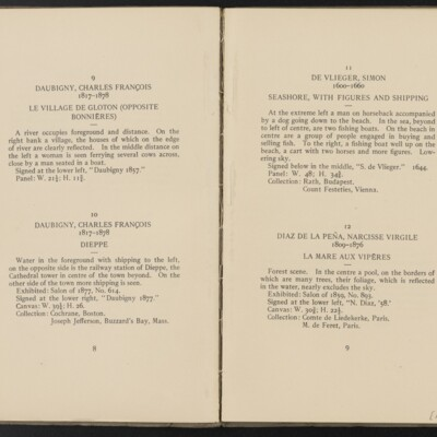 Catalogue of the Henry C. Frick Collection of Paintings, 1908 [pages 8-9]