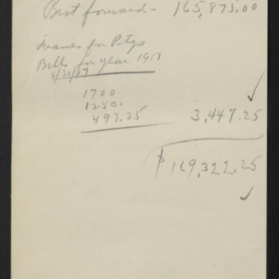 Account of works purchased from M. Knoedler &Co., circa 1917 [page 2 of 2]